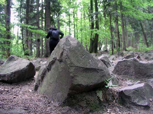 Pod Łysicą znaleziono kamień ze skośnym krzyżem