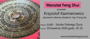 Warsztaty Feng Shui @ Łódź, ul. Sienkiewicza 61