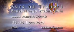 Kurs na Trenera Radykalnego Wybaczania @ Łódź, ul. Sienkiewicza 61