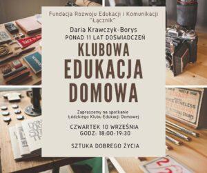 Klubowa Edukacja Domowa @ Łódź, ul. Sienkiewicza 61